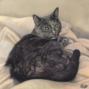 Biscuits' finished portrait
