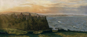 'Dunluce Castle' Limited Edition Giclee Print featuring Dunluce Castle. Original Art by Northern Irish artist Emma Colbert.