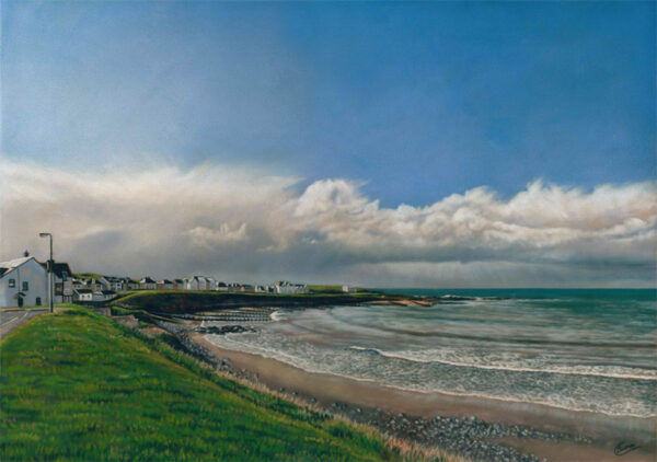 'Portbalintrae Bay' Limited Edition Giclee Print featuring Portbalintrae Bay.. Original Art by Northern Irish artist Emma Colbert.