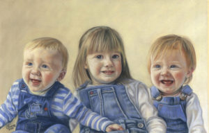 Finished Portrait of Three Children